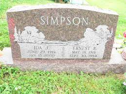 Ida Jane Stewart Simpson (1919-2000) - Find A Grave Memorial