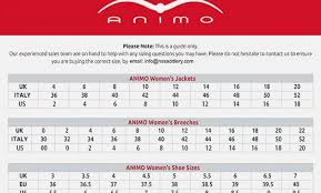 Animo Show Jacket Size Chart Pikeur Show Jacket Size Chart Best Picture Of Chart