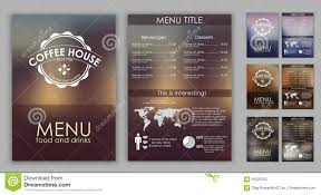Menu Presentation Design Design Coffee Menu With Blurred Background Stock Vector