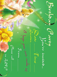 Tinkerbell Invitations Printable Tinkerbell Birthday Party Invitation Printable Best Gift