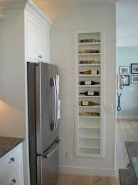 built in wine rack kitchen