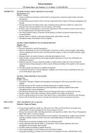 Global Procurement Manager Resume Samples Velvet Jobs