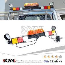 12v 24v Mining Pickup Tow Truck Amber Led Emergency Warning Signal Safety Rotating Strobe Flashing Lightbar With Worklight Buy Mining Lightbar
