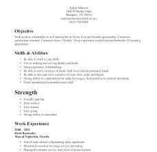 Bartender Resume Templates Resume Template Easy Http Www
