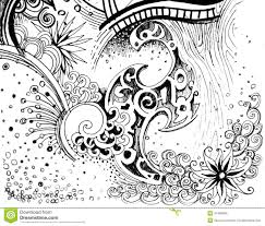 Small Picture Line Drawing Flower Pattern BigInf