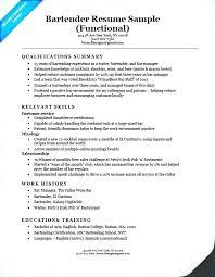 Bartending Skills On Resume Sample Bartending Resume Professional