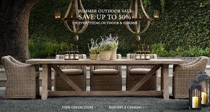 staying on the theme of furniture ping restoration hardware is having their summer with all outdoor and garden items 50 off