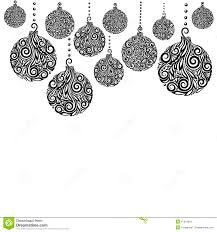 Black And White Greeting Card Beautiful Monochrome Black And White Christmas Background With