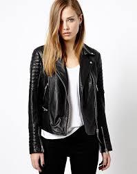 black-leather-jacket | Black Leather Jacket | Pinterest | Leather ... & Shop Whistles Ziggy Leather Biker Jacket at ASOS. Adamdwight.com