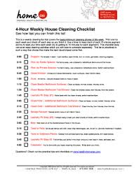 Professional House Cleaning Checklist Forms And Templates