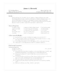 Film Student Production Assistant Resume Tv Picture Examples