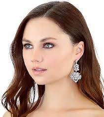 kristin perry crystal fl art deco vintage inspired chandelier earrings