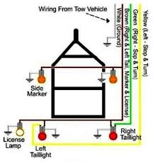 best 25 trailer light wiring ideas on pinterest electrical plug trailer wiring color code at Standard Wiring Diagram For Trailer Lights