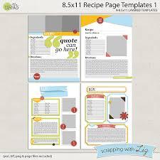 Recipe Labels Templates 8x11 Recipe Page Templates 1