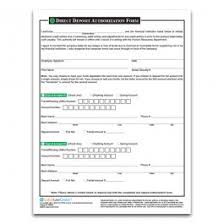 Payroll Forms Direct Deposit Form Employee Record And Payroll Forms