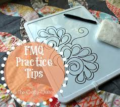 Free motion quilting practice tips - The Crafty Quilter & Free Motion Quilting Practice Tips @ The Crafty Quilter Adamdwight.com