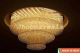 customize three round shape crystal chandelier