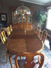 thomasville fisher park dining room table 8 chairs server and china cabinet