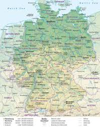 map of germany Satellite Map Of Germany physical map of germany satellite map germany