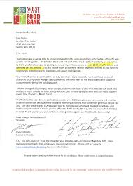 Thank You Letter For Food Donation Community Service