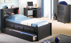 Boys bedroom furniture sets with wooden storage bed