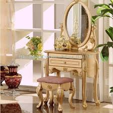 simple apartment bedroom. Brilliant Apartment French Champagne Gold Vanity Simple Lines And Elegant Furniture Small Apartment  Bedroom Dresser And Simple Apartment Bedroom
