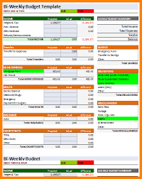 Excel Biweekly Budget Template Pin On Financial Corner