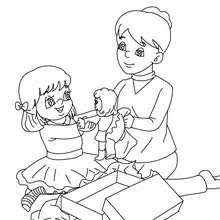 Small Picture Doll for gift coloring pages Hellokidscom