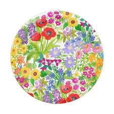 flower paper plates botanical floral garden flowers paper plates zazzle com