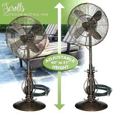 oscillating misting fan home depot outdoor mist cooling fans patio indoor floor standing pedestal gentle action