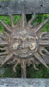 metal garden decor sun wall art indoor outdoor ceramic