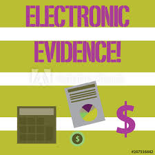 Text Sign Showing Electronic Evidence Business Photo Text