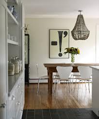 gray chandelier cottage dining room bella mancini design modern farmhouse kitchen