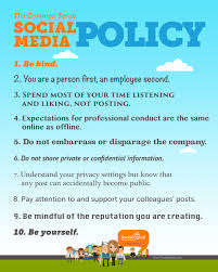 Social Media Policy Looking for a social media policy Freelance Website Manager 1