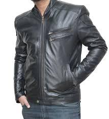 details about mens leather biker motorcycle jackets genuine lambskin winter designer su72