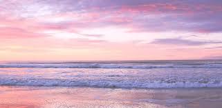 Pink ocean wallpaper, Beach sunset ...