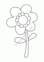 Flowers Templates Flower With Stem Flowers Templates