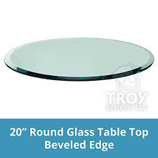 20 inch round glass table top 1 2 thick beveled edge tempered glass