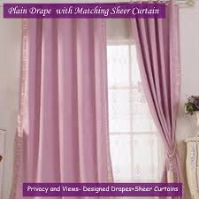 Purple Curtains For Living Room Blackout Gold Sheer Floral Curtain Kids Room Eyelet Pinch Pleats