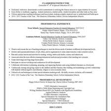 Paraprofessionalsume Special Education Instructional Assistant