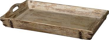 Clemence Rectangular Wood Serving Tray