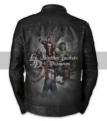 marvel avengers leather jacket back