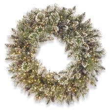 national tree company 24 in glittery bristle pine wreath with infinity lights ebay national tree company wreaths t13