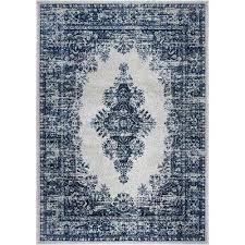 vintage gray blue 4 ft x 6 ft indoor area rug