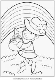 Small Picture Leprechaun Colouring Pages