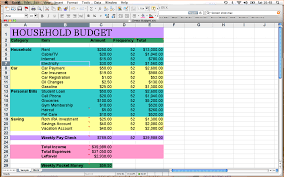 sample household budget 5 household budget template outline templates