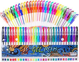 <b>Gel Pens</b> 30 Colors Gel <b>Marker</b> Set Colored Pen with 40% More Ink ...