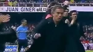 Mourinho celebrates in destructive fashion real madrid wins and. Jose Mourinho Funny Moments Best Interviews Reactions Celebrations On Make A Gif