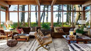 Living Room Wood Furniture Warm And Rustic Modern House Organic House Design