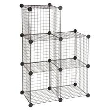 details about sy cube black metal wire shelving unit storage steel tier rack organiser
